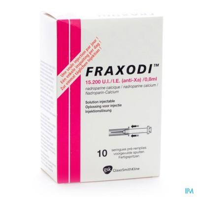 FRAXODI AMP SER 10X0,8ML - 15.200 UI/IE