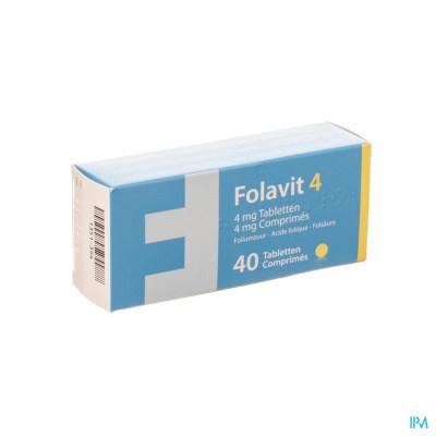 FOLAVIT 4 4MG TABL 40 X 4MG CFR 4108338