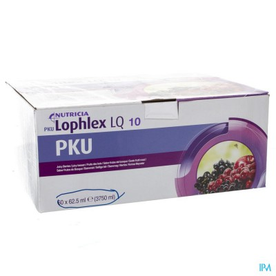 Pku Lophlex Lq 10 Juicy Bosvruchten 60x62,5ml