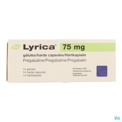 LYRICA  75MG HARDE CAPS  14 X  75MG