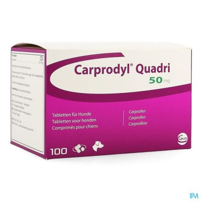 CARPRODYL QUADRI  50MG     COMP 100