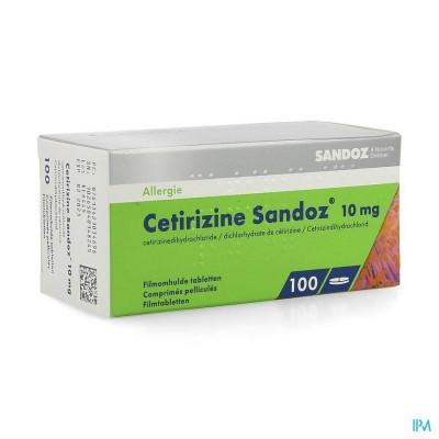 CETIRIZINE SANDOZ 10MG FILMOMH TABL 100 X 10MG