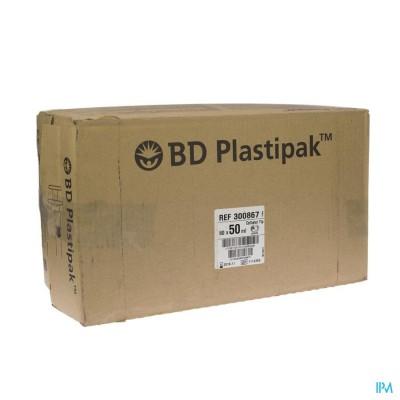 BD PLASTIPAK SPUIT CATHETER TIP 50ML     60 300867