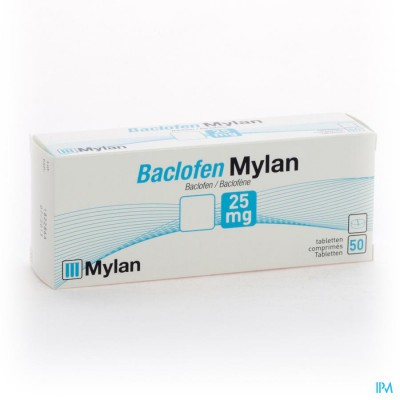 Baclofen Mylan Comp 50x25mg