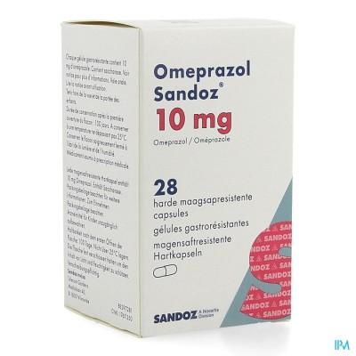 OMEPRAZOL SANDOZ CAPS ENTER 28 X 10 MG