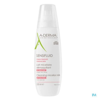 ADERMA SENSIFLUID MELK MICELLAIR 200ML