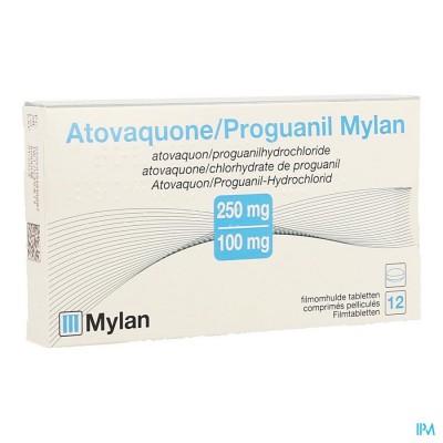 ATOVAQUONE PROGUANIL MYLAN FILMOMH TABL 12