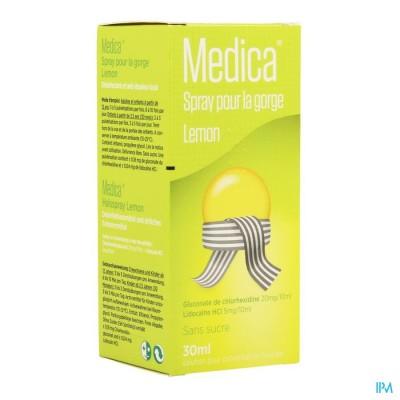 MEDICA KEELSPRAY LEMON 30ML