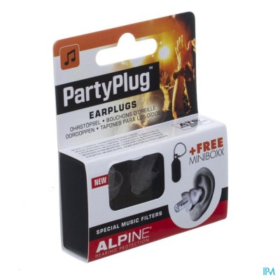 ALPINE PARTY PLUG OORDOPPEN TRANSPARANT NEW     1P