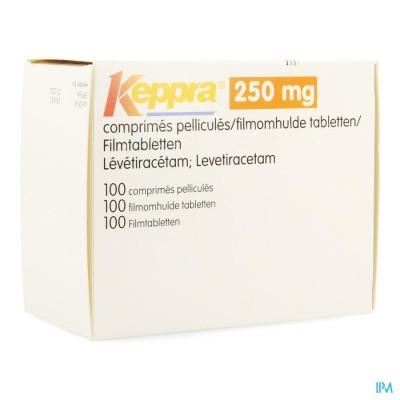 KEPPRA  250MG COMP PELL 100X 250MG