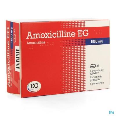 AMOXICILLINE EG 1000 MG FILMOMH TABL 24 X 1000 MG