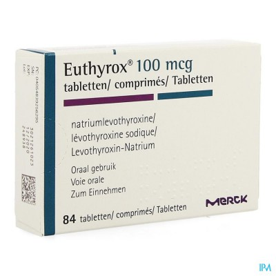 EUTHYROX COMP  84 X 0,100 MG