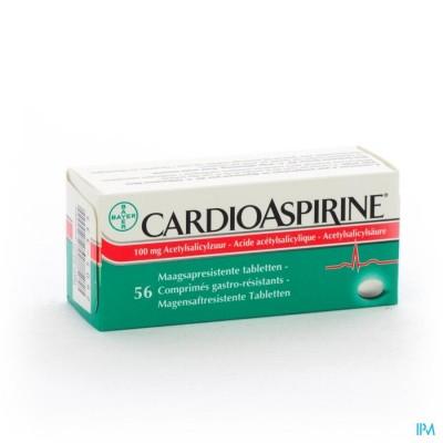 CARDIOASPIRINE MAAGSAPRESIST. TABL 56 X 100MG