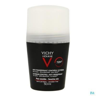 VICHY HOMME DEO A/TRANSP. 72U ROLLER 50ML