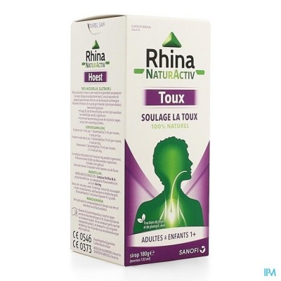RHINA NATUR ACTIV HOEST SIROOP 180G