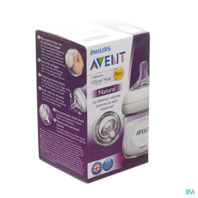 PHILIPS AVENT ZUIGFLES NATURAL               125ML