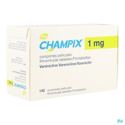 CHAMPIX COMP 140 X 1 MG ACLAR/PVC/ALU