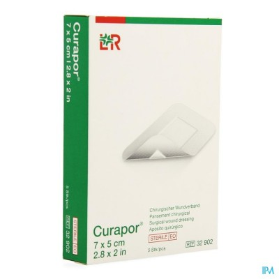 CURAPOR VERB CHIRURG. STERIEL   7CMX 5CM   5 32902