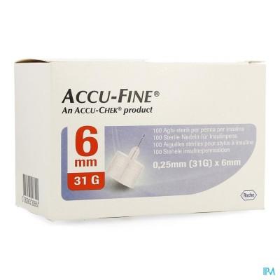 ACCU FINE 31G 6MM               100