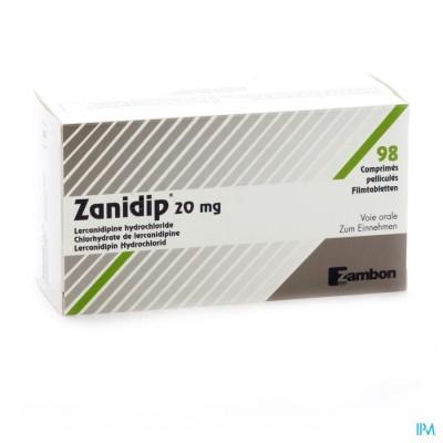 ZANIDIP COMP 98 X 20 MG