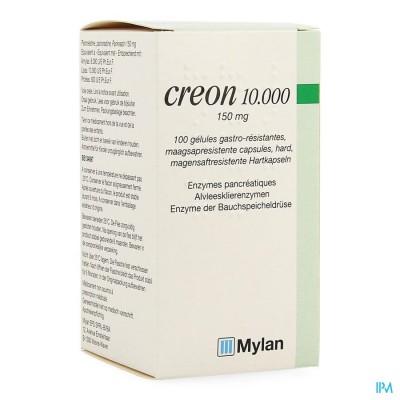 CREON 10000 CAPS MAAGSAPRESIST HARD 100 X 150 MG