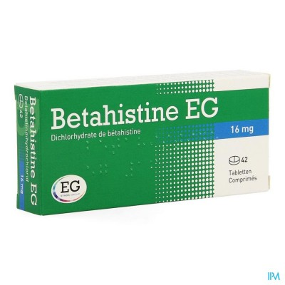 BETAHISTINE EG COMP  42 X 16 MG