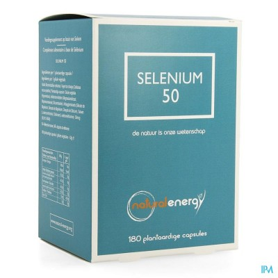 SELENIUM 50 NATURAL ENERGY CAPS 180