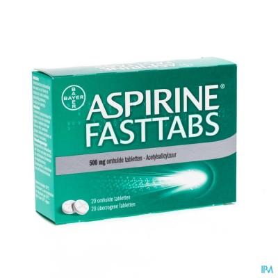 ASPIRINE FASTTABS 500MG FILMOMH TABL  20
