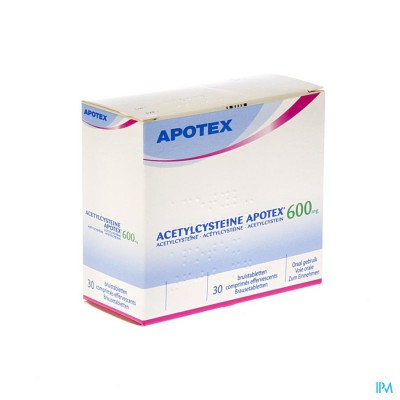 Acetylcysteine Apotex Comp Eff 30 X 600mg