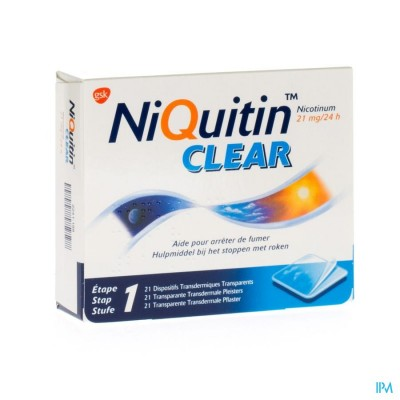 NIQUITIN CLEAR PATCHES 21 X 21 MG