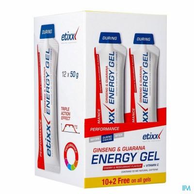 ETIXX GINSENG&GUAR.ENERGY GEL RED C.-CHERRY 12X50G