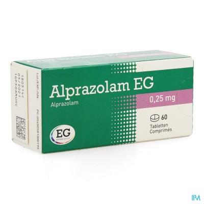 ALPRAZOLAM EG COMP 60 X 0,25MG