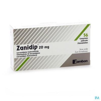 ZANIDIP COMP 56 X 20 MG