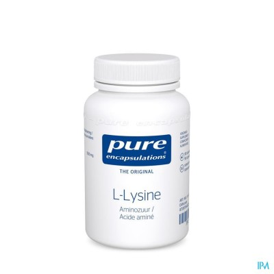PURE ENCAPSULATIONS L-LYSINE AMINOZUUR    CAPS  90