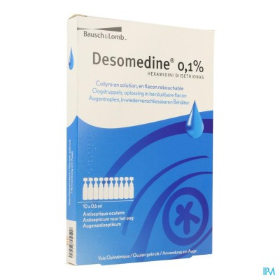 Desomedine 0,1 % Collyre 10x0,6ml