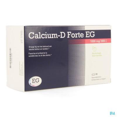 CALCIUM-D EG FORTE 1000MG/800IE MUNT KAUWTABL 90