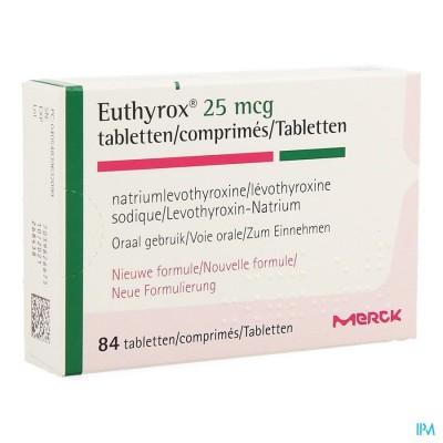 EUTHYROX  25MCG COMP  84 NF