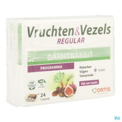 ORTIS VRUCHTEN & VEZEZELS REGULAR       BLOKJES 24