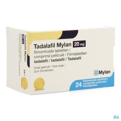 TADALAFIL MYLAN 20MG FILMOMH TABL 24 X 20MG