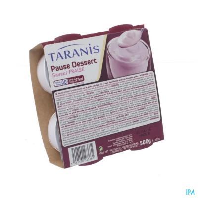 Taranis Pause Dessert Aardbei 4x125g 4690