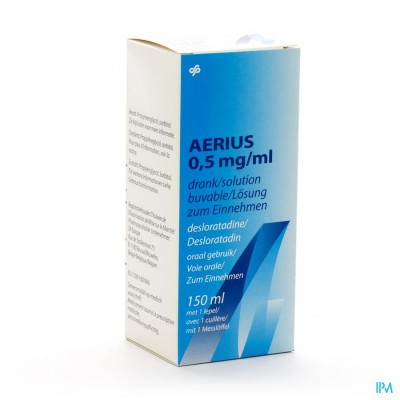 AERIUS DRINKBARE OPLOSSING 0,5MG/1ML 150ML