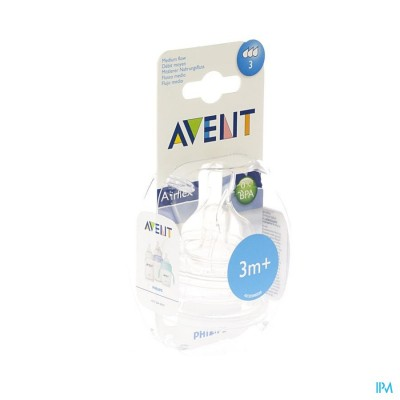 PHILIPS AVENT ZUIGSPEEN MEDIUM 3GATEN            2