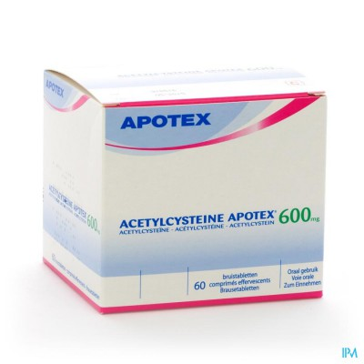 Acetylcysteine Apotex Comp Eff 60 X 600mg