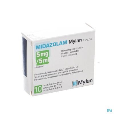 MIDAZOLAM MYLAN 1MG/ML OPL INJ AMP 10X 5ML