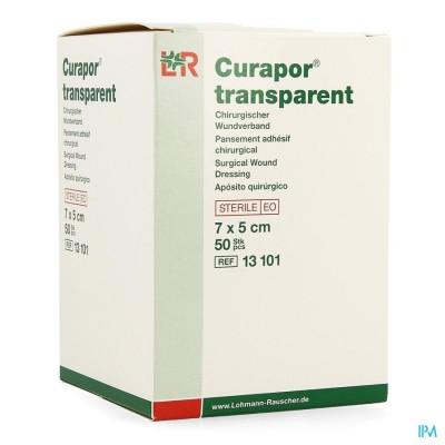 CURAPOR TRANSPARANT STERIEL     7CMX 5CM  50 13101