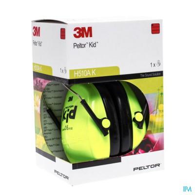 Peltor Hearing Protector Kid Neon Green 1