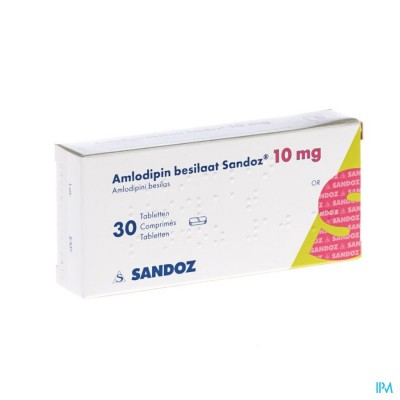 AMLODIPINE BESILAAT SANDOZ C0MP  30X10MG