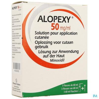 ALOPEXY 50MG/ML OPL CUTAAN GEBRUIK FL 3X60ML