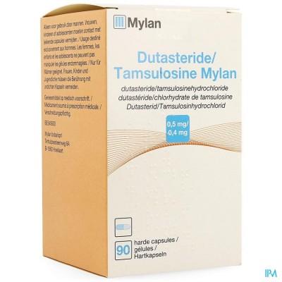 DUTASTERIDE TAMSULOSINE MYLAN 0,5MG/0,4MG CAPS  90