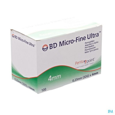 Bd Microfine Ultra Pennaald 4mm 32g Thinwall 100
